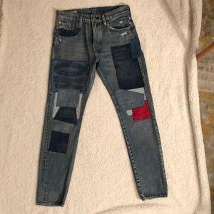 Levi's 512 patchwork boyfriend style jeans